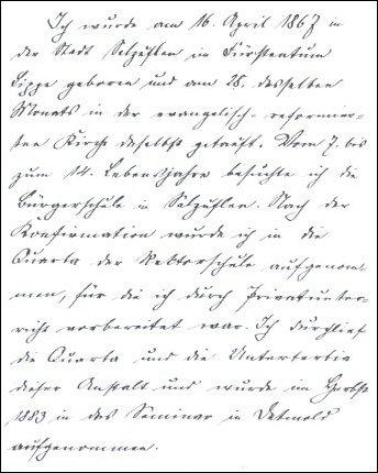 handgeschriebener lebenslauf - Handschriftlicher Lebenslauf